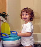 Potty training success Stock Photos