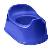 Potty training. Toilet training potty used by small children stock photography