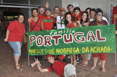 Potugal Supporters. These are supporters of Portugal Sevens rugby team that finish top in there pool with 9 points.They loose against Fiji in the semi plate.The Royalty Free Stock Images