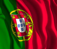 Portuguese flag Royalty Free Stock Images