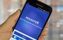 Potwór akcydensowa rewizja app Obraz Royalty Free