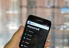 Potwór akcydensowa rewizja app Obrazy Stock