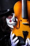 Potwór bawić się skrzypce Zdjęcia Royalty Free