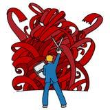 potwór czerwona taśma Zdjęcie Stock