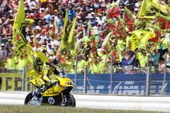 Potwór Energetyczny Uroczysty Catalunya MotoGP Prix Kierowcy indywidualista Viñales HP 40 drużyna Fotografia Royalty Free