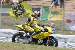 Potwór Energetyczny Uroczysty Catalunya MotoGP Prix Kierowcy indywidualista Viñales HP 40 drużyna Obrazy Royalty Free