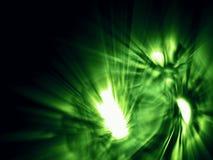 Potwór furia z świecącymi oczami w zielonych kolorach ilustracja wektor