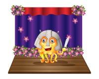 Potwór jest ubranym hełm pozycję po środku sceny Zdjęcia Royalty Free