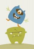 Potwór szczęśliwa ilustracja Zdjęcia Royalty Free