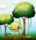 Potwór z śmiertelnym rozwidleniem przy lasem Zdjęcie Royalty Free