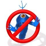 Potwór z przerwa znaka 3d ilustracją Obraz Royalty Free