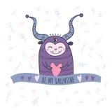 Potwór z sercem, był mój walentynką Zdjęcie Royalty Free