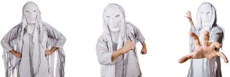Potw?r na bielu w strasznym Halloween poj?ciu fotografia royalty free
