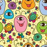 Potwora śliczny szczęśliwy bezszwowy wzór Obraz Royalty Free