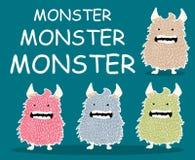Potwora charakteru kreskówki set Obrazy Royalty Free