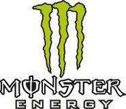 Potwora logo energetyczna ikona royalty ilustracja