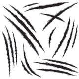 Potwora pazura dziury narysy ustawiający Obraz Royalty Free