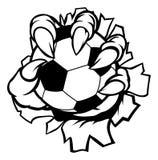 Potwora pazura mienia piłki nożnej futbolu zwierzęca piłka Zdjęcie Royalty Free