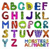 potwory alfabet ilustracja wektor