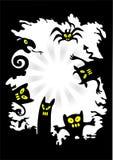 potwory tło ilustracji