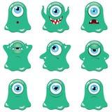 potwory zielone ilustracja wektor
