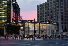 Potzdamer platz stacja w Berlin Obraz Royalty Free
