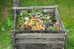 Poubelle de compost Photographie stock