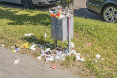 Poubelle de déchets Photographie stock