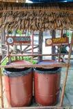 Poubelle de déchets fabriquée à la main Image libre de droits