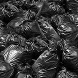 Poubelle de noir de sac de déchets de fond, décharge de déchets, poubelle, déchets, Garba photo libre de droits
