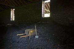 Poubelle intérieure de charbon Images libres de droits