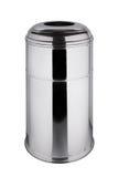 Poubelle polie d'acier inoxydable 45 litres Image libre de droits