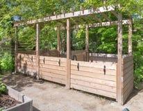 Poubelles de compost Photographie stock libre de droits