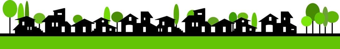 Pouca bandeira da vila Fotografia de Stock