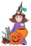 Pouca bruxa de Halloween Imagens de Stock Royalty Free