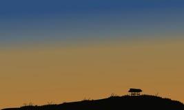 Pouca cabana no campo Imagem de Stock