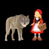 Pouca capa de equitação vermelha ilustração do vetor