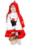Pouca capa de equitação vermelha Imagens de Stock Royalty Free
