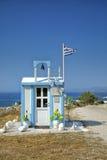 Pouca capela nos Milos em Grécia Fotografia de Stock Royalty Free