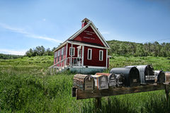 Pouca casa da escola Foto de Stock