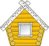 Pouca casa de madeira Fotografia de Stock