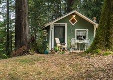 Pouca casa na floresta imagem de stock