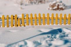 Pouca cerca amarela Imagem de Stock
