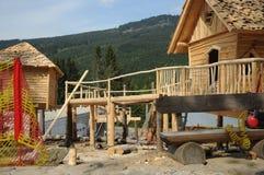 Pouca construção da casa de campo Foto de Stock Royalty Free
