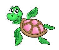 Pouca cor-de-rosa da tartaruga de mar Fotografia de Stock