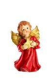 Pouca figura decoração do Natal do anjo isolada no backg branco Foto de Stock