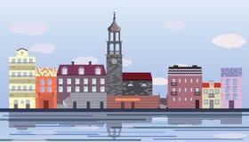 Pouca ilustração da cidade Fotografia de Stock Royalty Free