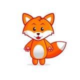 Pouca ilustração do vetor do Fox dos desenhos animados para crianças Fotografia de Stock Royalty Free