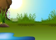 Pouca lagoa Imagem de Stock