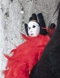 Pouca máscara na mão Fotografia de Stock Royalty Free